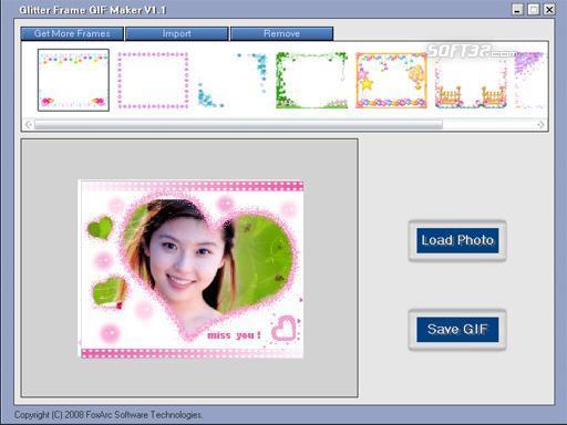 Glitter Frame GIF Maker Screenshot 2
