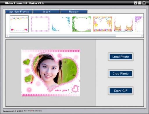 Glitter Frame GIF Maker Screenshot 1