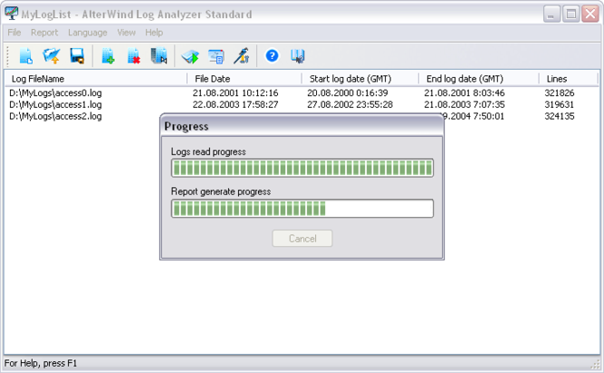 AlterWind Log Analyzer Standard Screenshot
