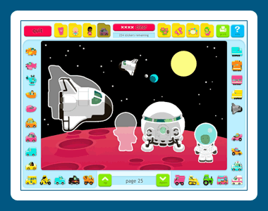 Sticker Activity Pages Screenshot