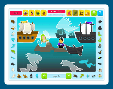 Sticker Activity Pages 2: Fantasy World Screenshot