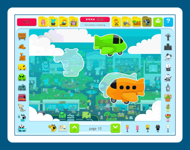 Sticker Activity Pages 3: Animal Town Screenshot 1