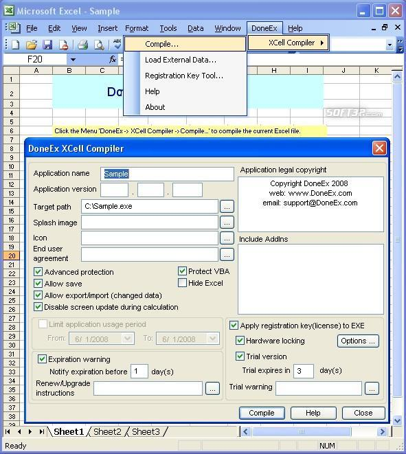 XCell Compiler Screenshot 2