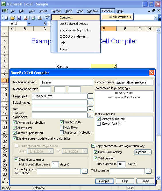 XCell Compiler Screenshot 1