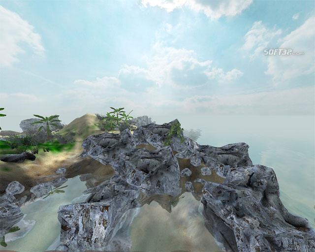 Sandy Island 3D Screensaver Screenshot 1