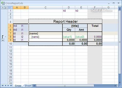 .Net Excel or OpenOffice report generator Screenshot 2