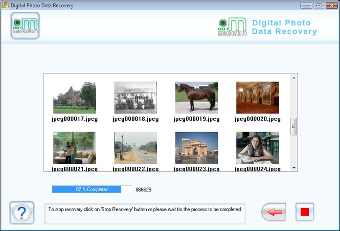 Digital Image Rescue Tool Screenshot
