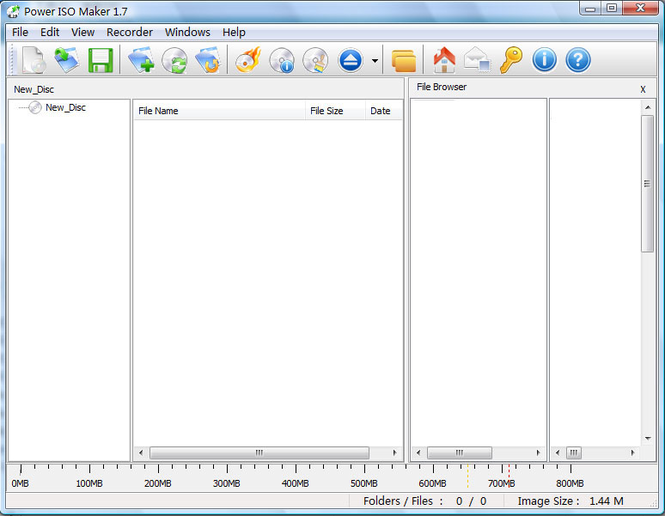 iWellsoft Power ISO Maker Screenshot