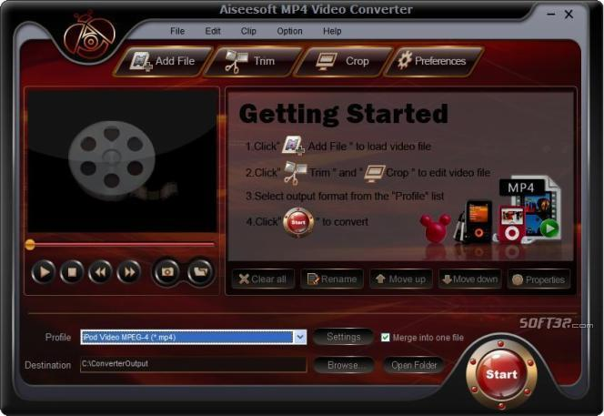 Aiseesoft MP4 Video Converter Screenshot 2