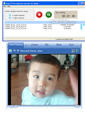 Supertintin MSN Webcam Recorder Screenshot 2
