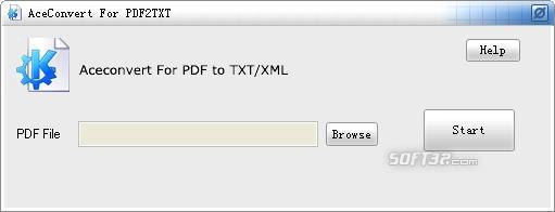 AceConvert For PDF2TXT Screenshot