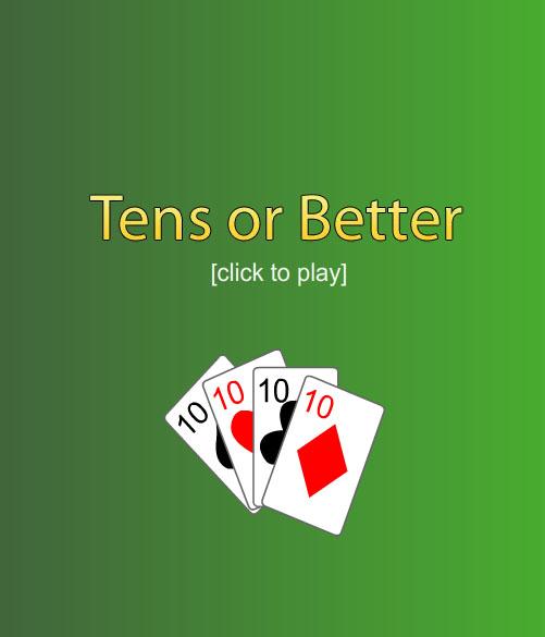 Free Poker 10's or Better Screenshot 1