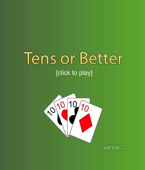 Free Poker 10's or Better Screenshot 2