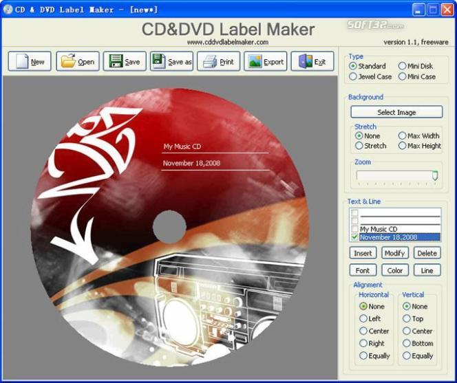 CD&DVD Label Maker Screenshot 2