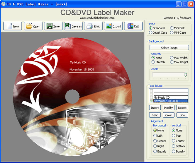 CD&DVD Label Maker Screenshot