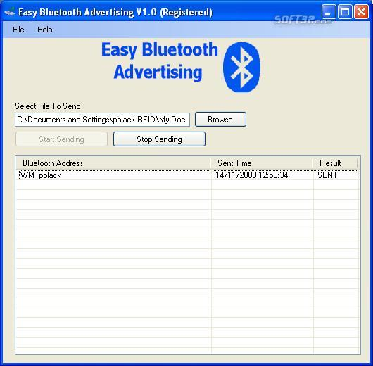 Easy Bluetooth Advertising Screenshot