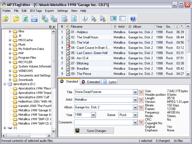 MP3TagEditor Screenshot