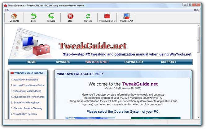 TweakGuide.net Screenshot