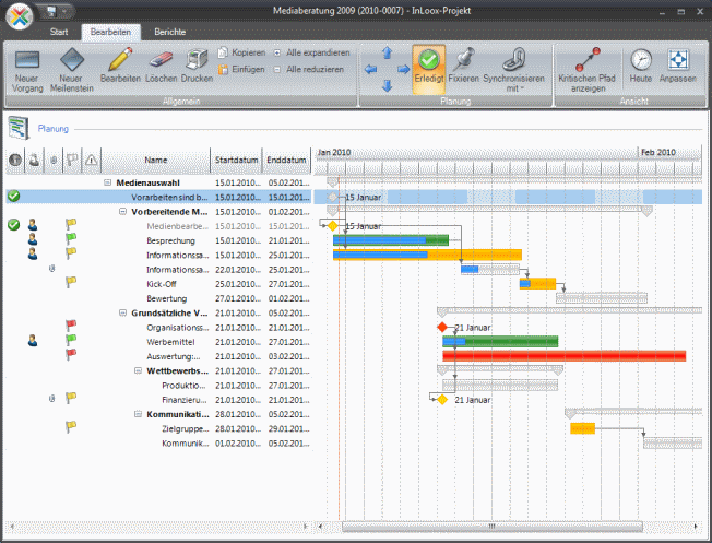 InLoox Outlook project management Screenshot 1