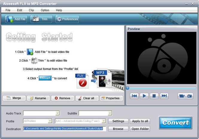Aiseesoft FLV to MP3 Converter Screenshot