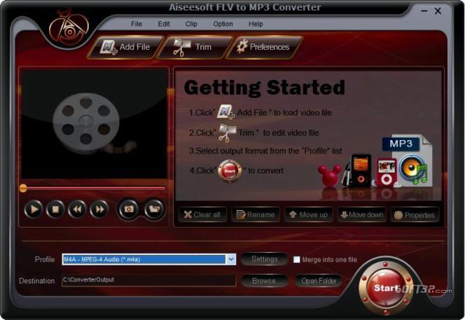 Aiseesoft FLV to MP3 Converter Screenshot 3