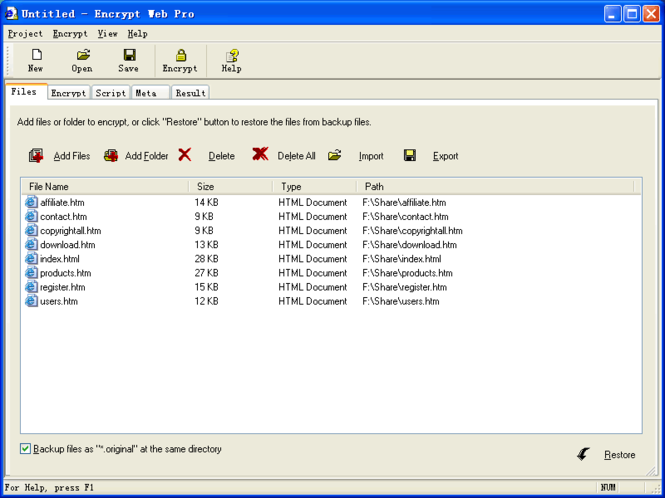 Encrypt Web Pro Screenshot
