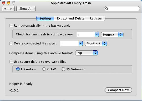 AppleMacSoft Empty Trash for Mac Screenshot