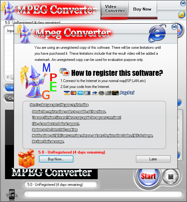 MPEG Converter Screenshot