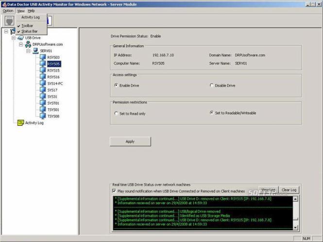 System USB Monitor Software Screenshot 3
