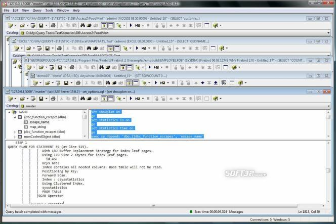 SQL Query Tool (using ADO) Screenshot