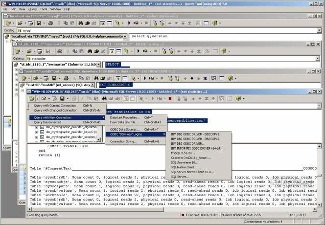 SQL Query Tool (using ADO) 7.0 x64 Ed. Screenshot