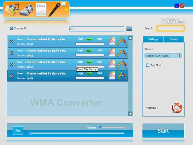 WMA Converter Screenshot 1