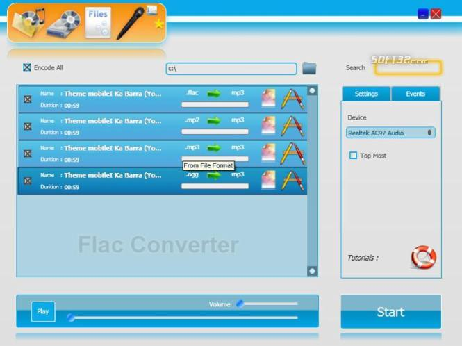 Flac Converter Screenshot 1