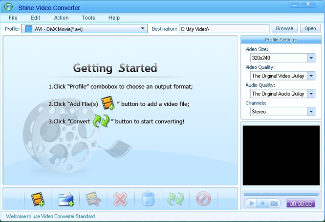 Shine Video Converter Screenshot