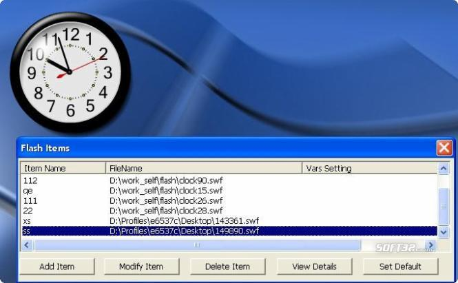 FlashAlarmClock Screenshot