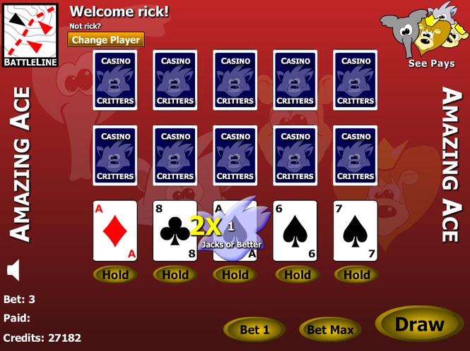Free Poker Aces Screenshot