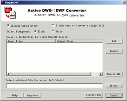 AutoDWG Converter (DWG to DWF) Screenshot