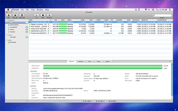 uTorrent for Mac Screenshot 1
