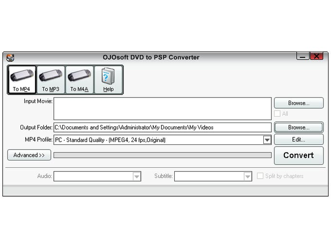 OJOsoft DVD to PSP Converter Screenshot