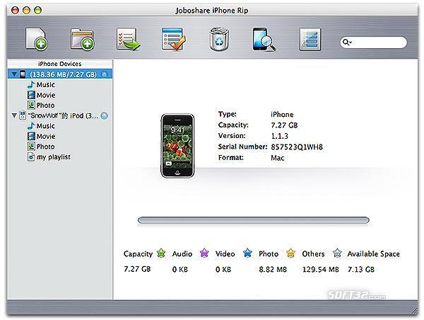 Joboshare iPhone Rip for Mac Screenshot 3