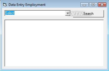 Data Entry Employment a Screenshot