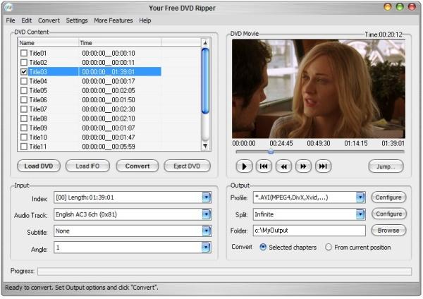Your Free DVD Ripper Screenshot