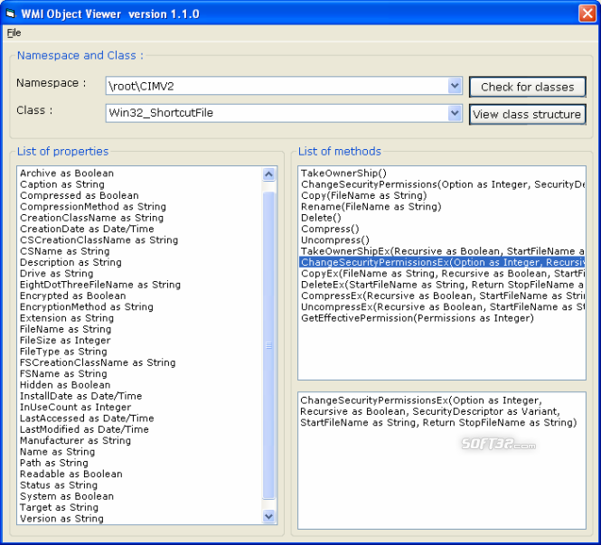 WMI Object Viewer Screenshot