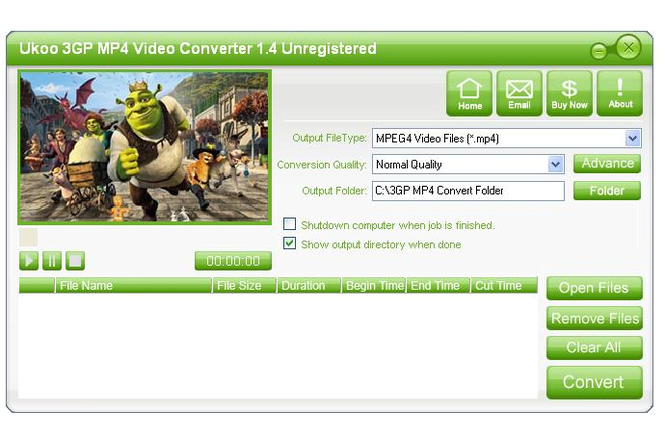 Ukoo 3GP MP4 Video Converter Screenshot