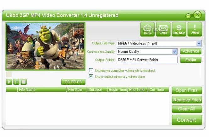 Ukoo 3GP MP4 Video Converter Screenshot 3