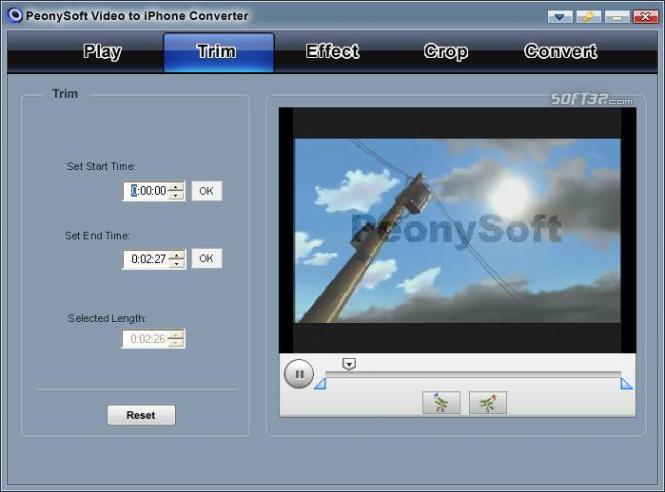 PeonySoft iPhone Video Converter Screenshot 3