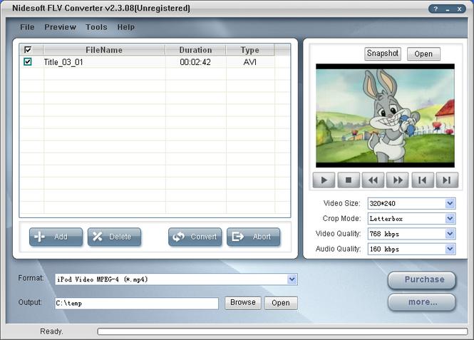 Nidesoft FLV Converter Screenshot