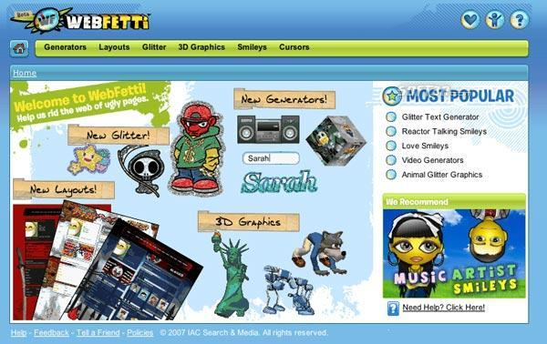 MySpace Layouts Screenshot