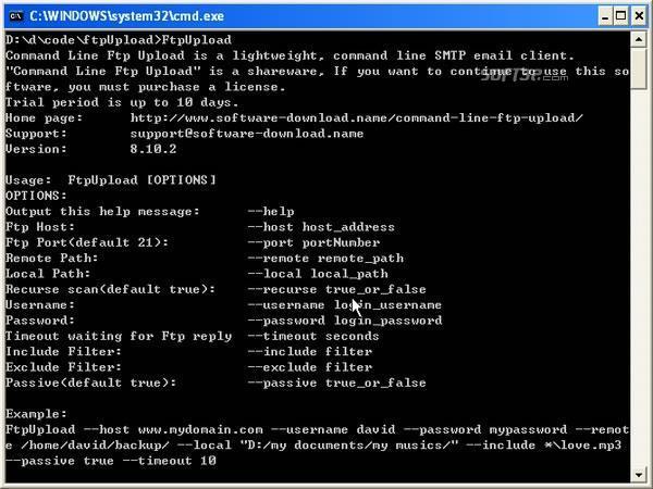 Command Line Ftp Upload Screenshot 3