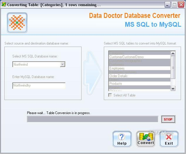 MSSQL Database To MySQL Migrator Screenshot 3